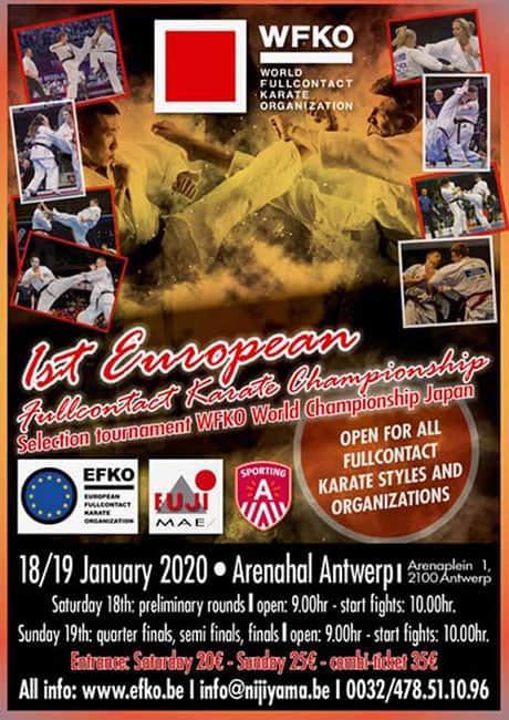 The 1st European Fullcontact Karate Championship 2020