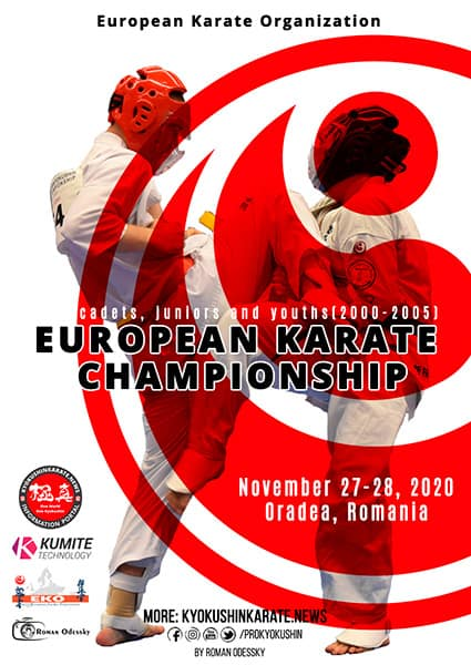 The European Championship 2020 for cadets, juniors and youths (WKO)