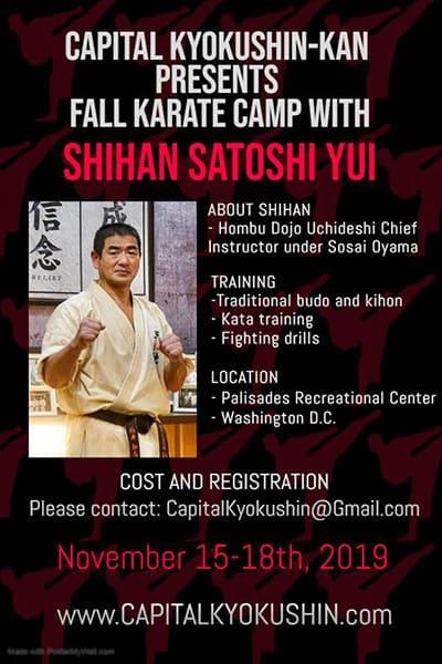 Fall kyokushin-kan karate camp with Shihan Satoshi Yui